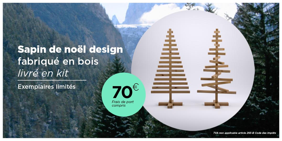 Sapin de noël fabriqué en bois livré en kit